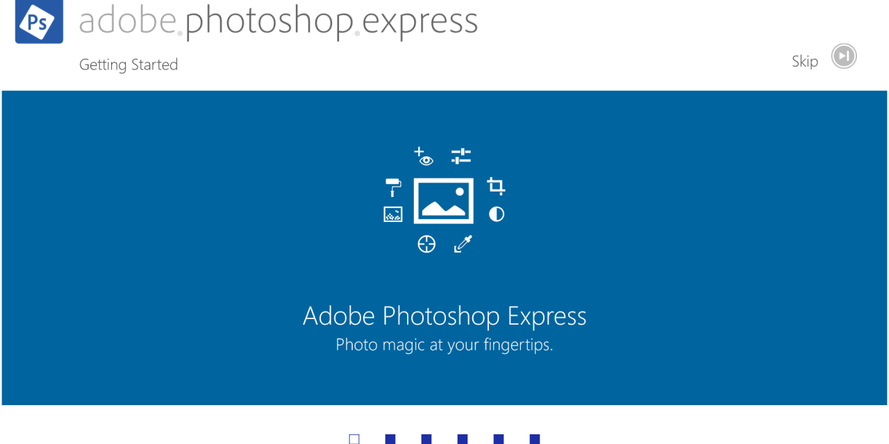 Photoshop Express for Iphone and Ipad
